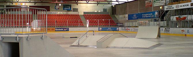 Betong skate ramper